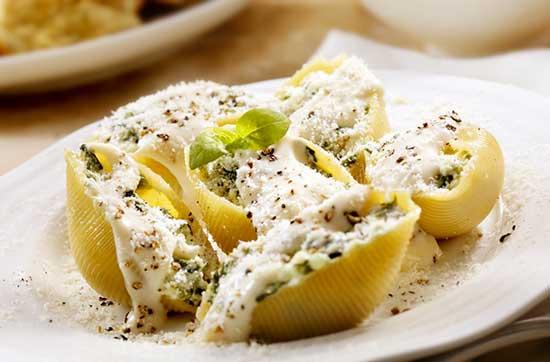 stuffed-shells-with-flourentine-cheese
